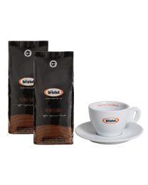 Café en grains Bristot Speciale (2x1kg) + tasse