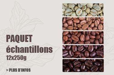 Paquet d'échantillons de café